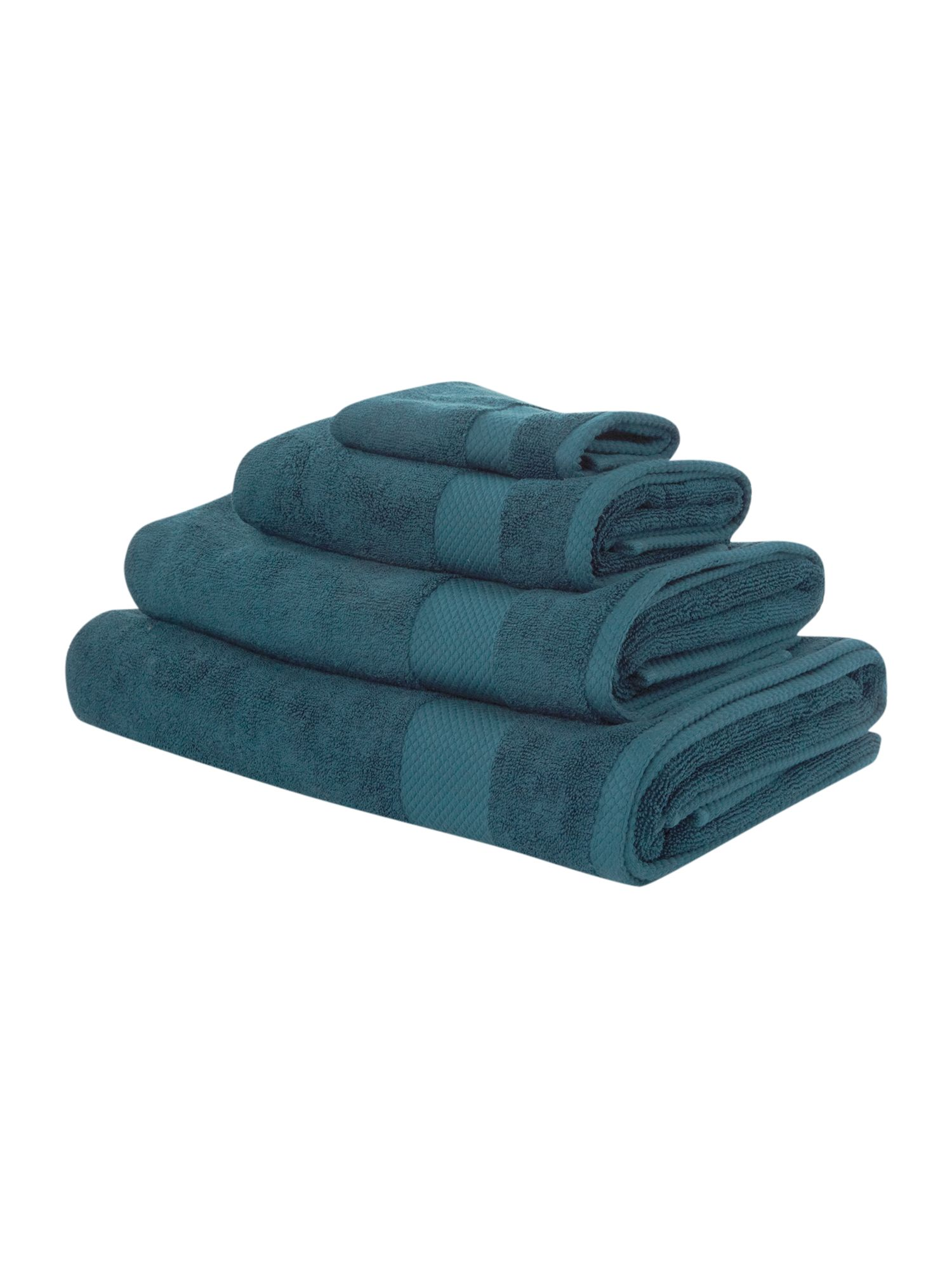 Egyptian cotton towels in cerulean