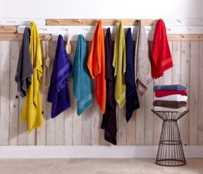Linea Egyptian cotton towels in aubergine