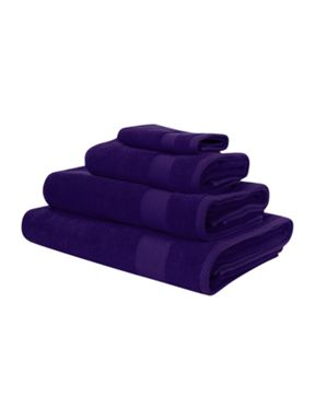 Linea Egyptian cotton towels in purple