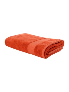 Egyptian cotton towel in orange