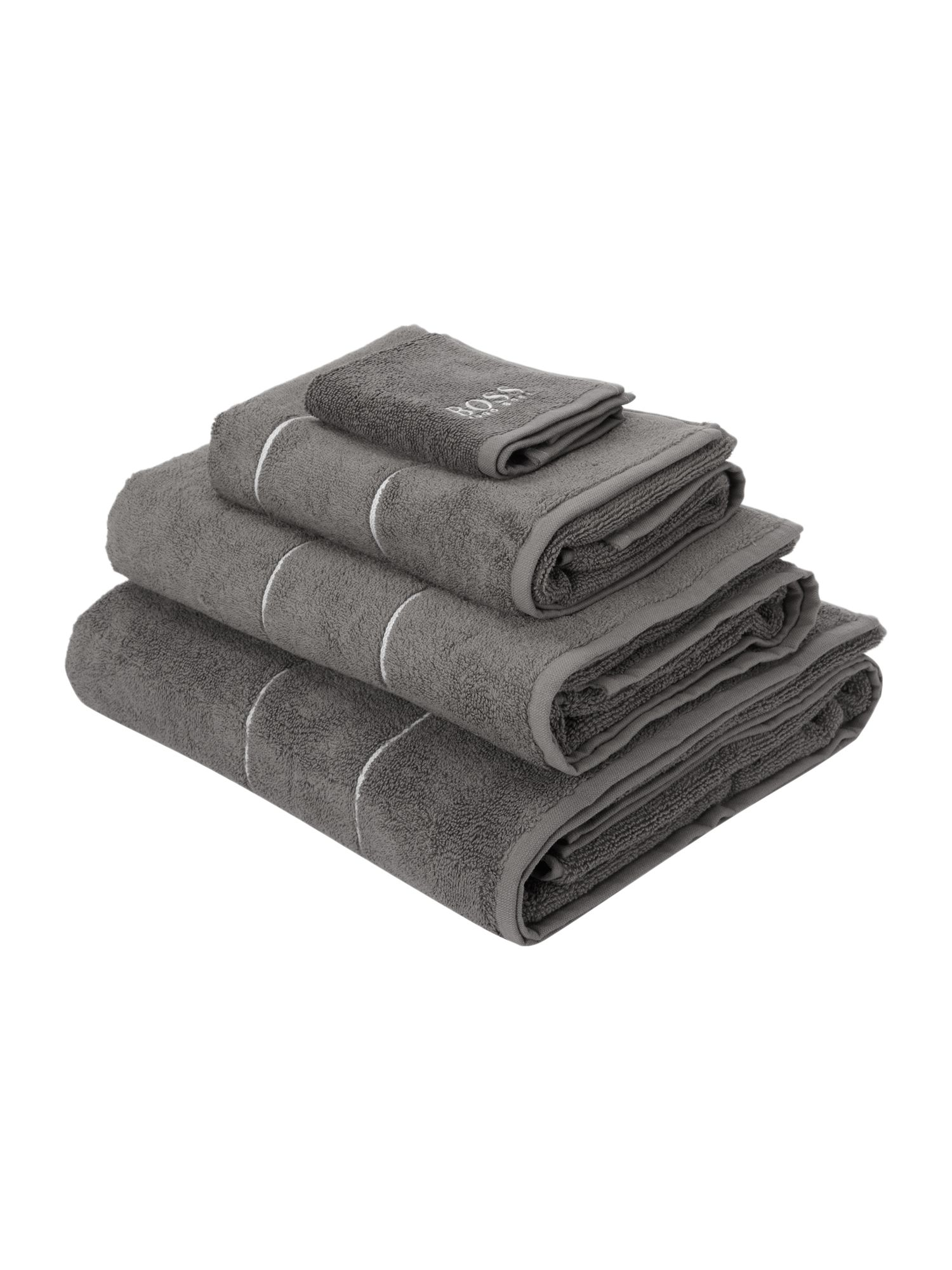 Logo egyptian cotton towels in concrete
