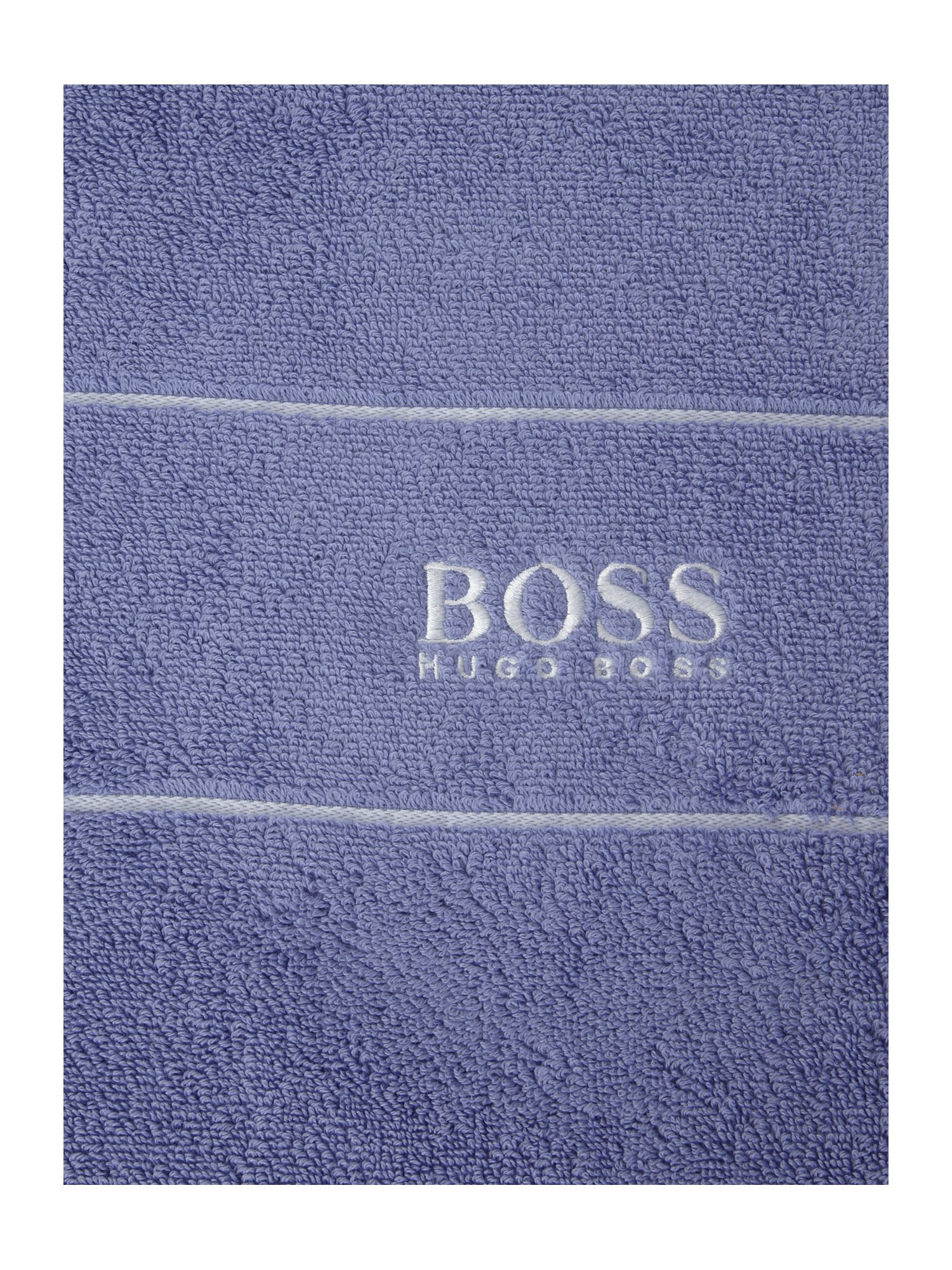 Logo egyptian cotton towels in denim