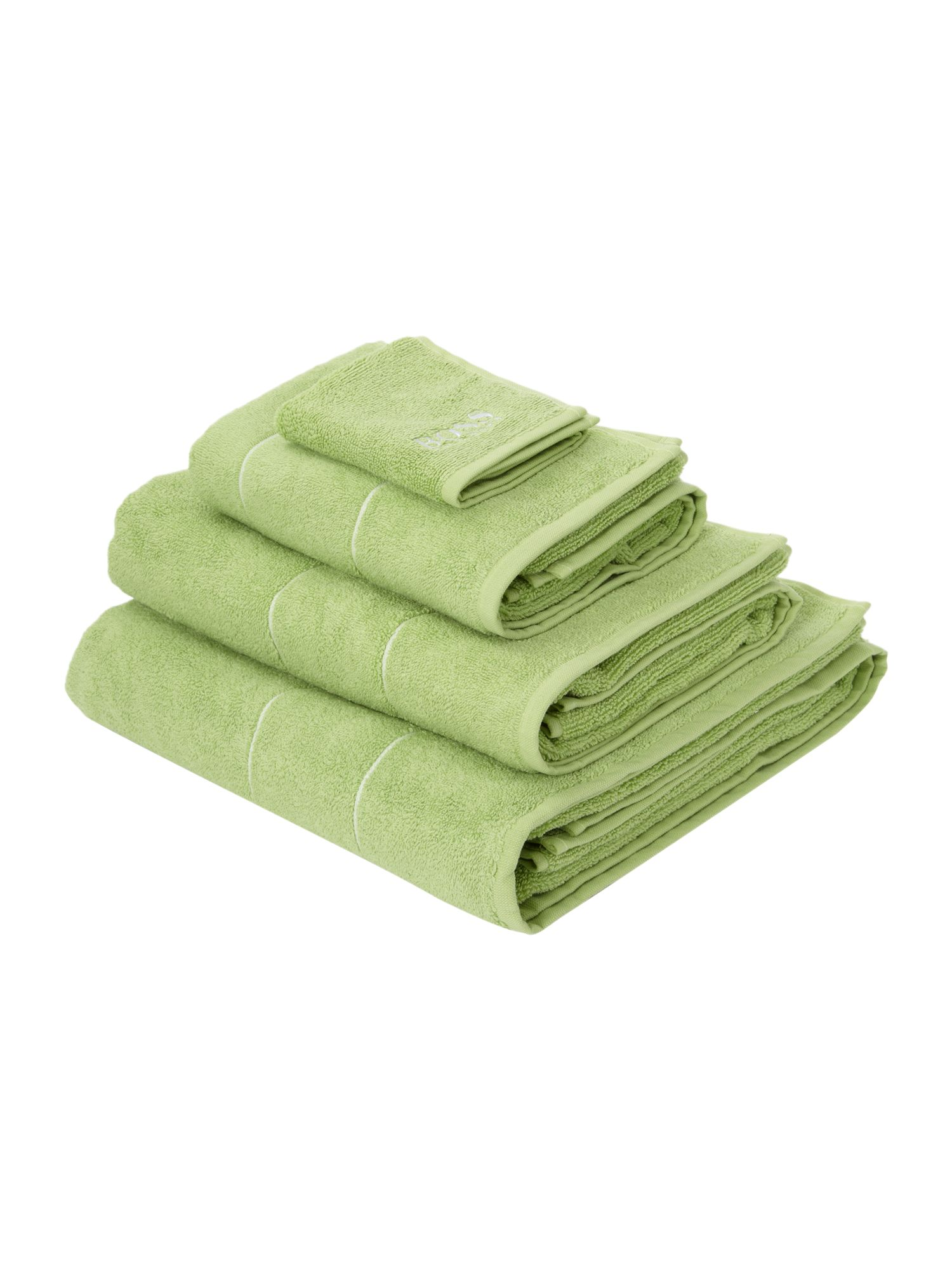 Logo egyptian cotton towels in lime