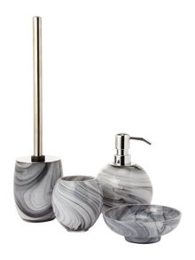 Glass marble bath accessories