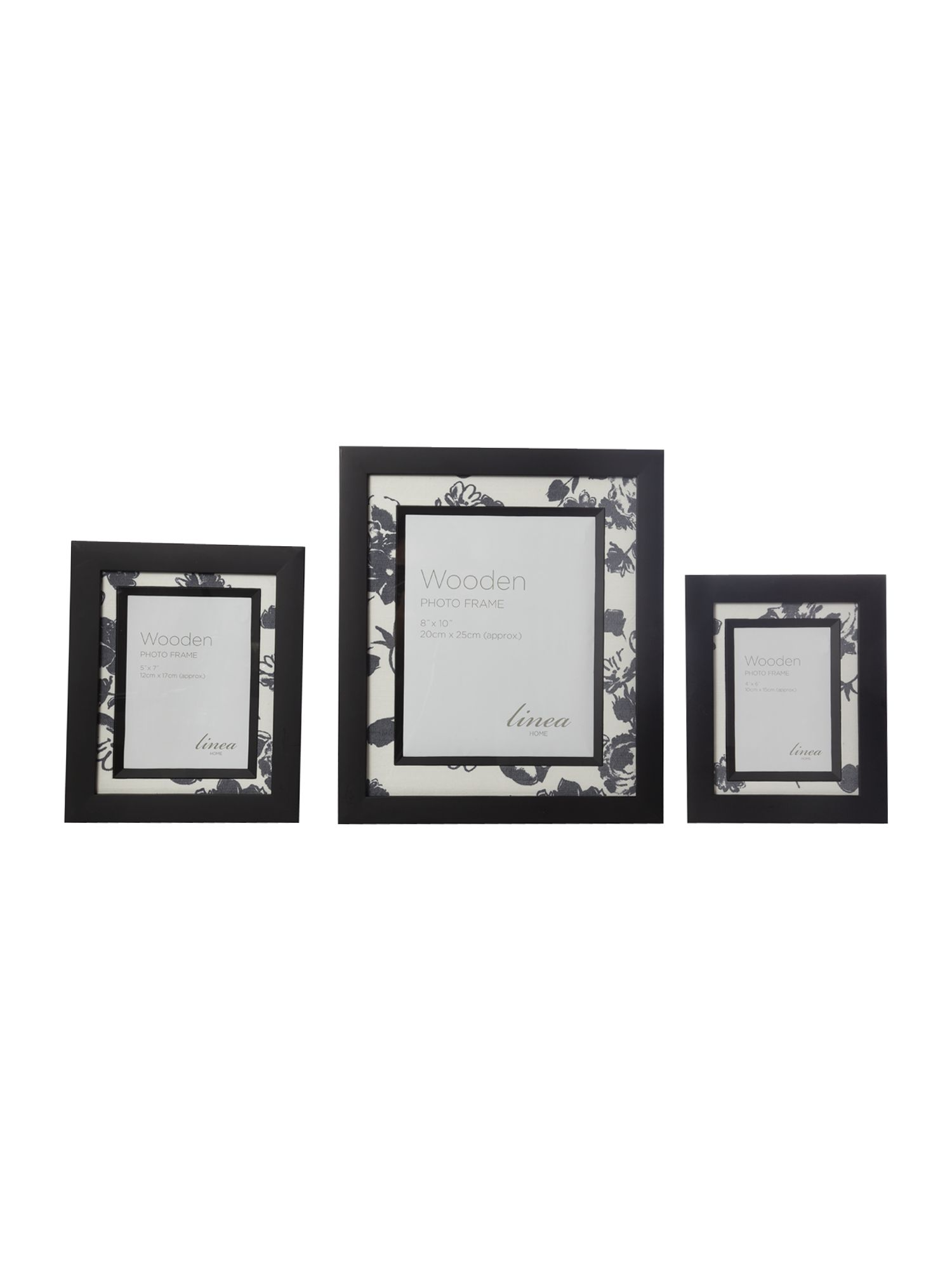 Black damask photo frame range