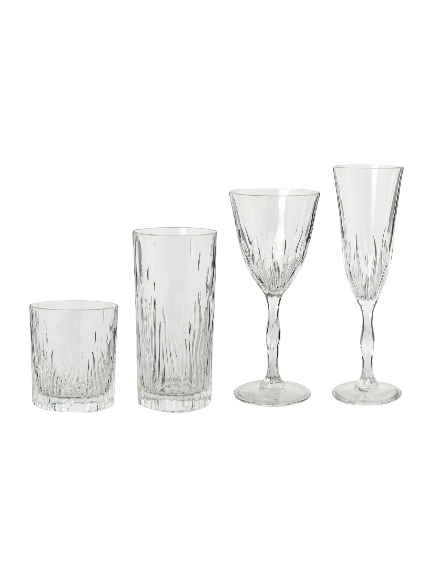 Fire crystal glassware sets