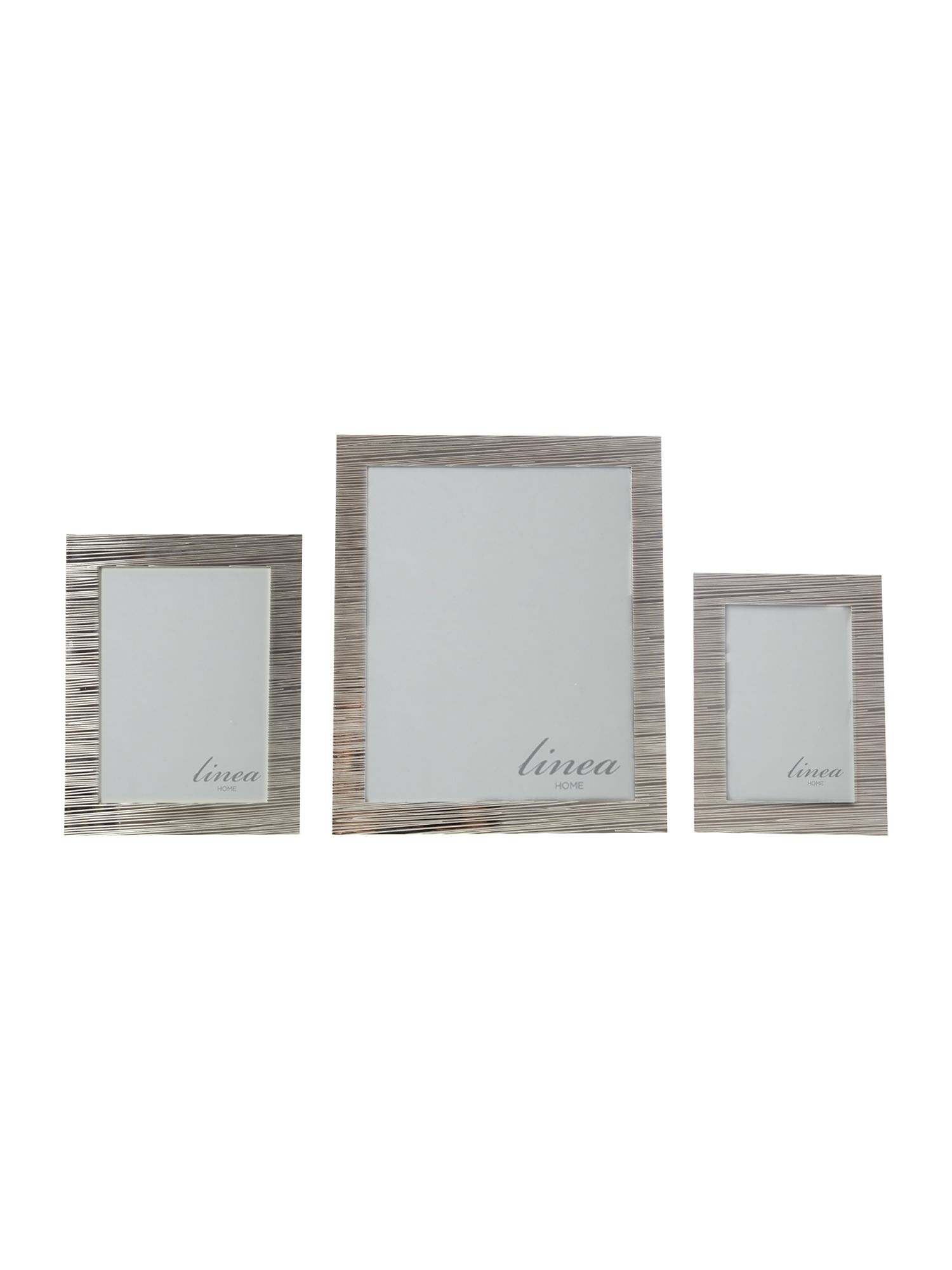 Silver plated textured photo frame