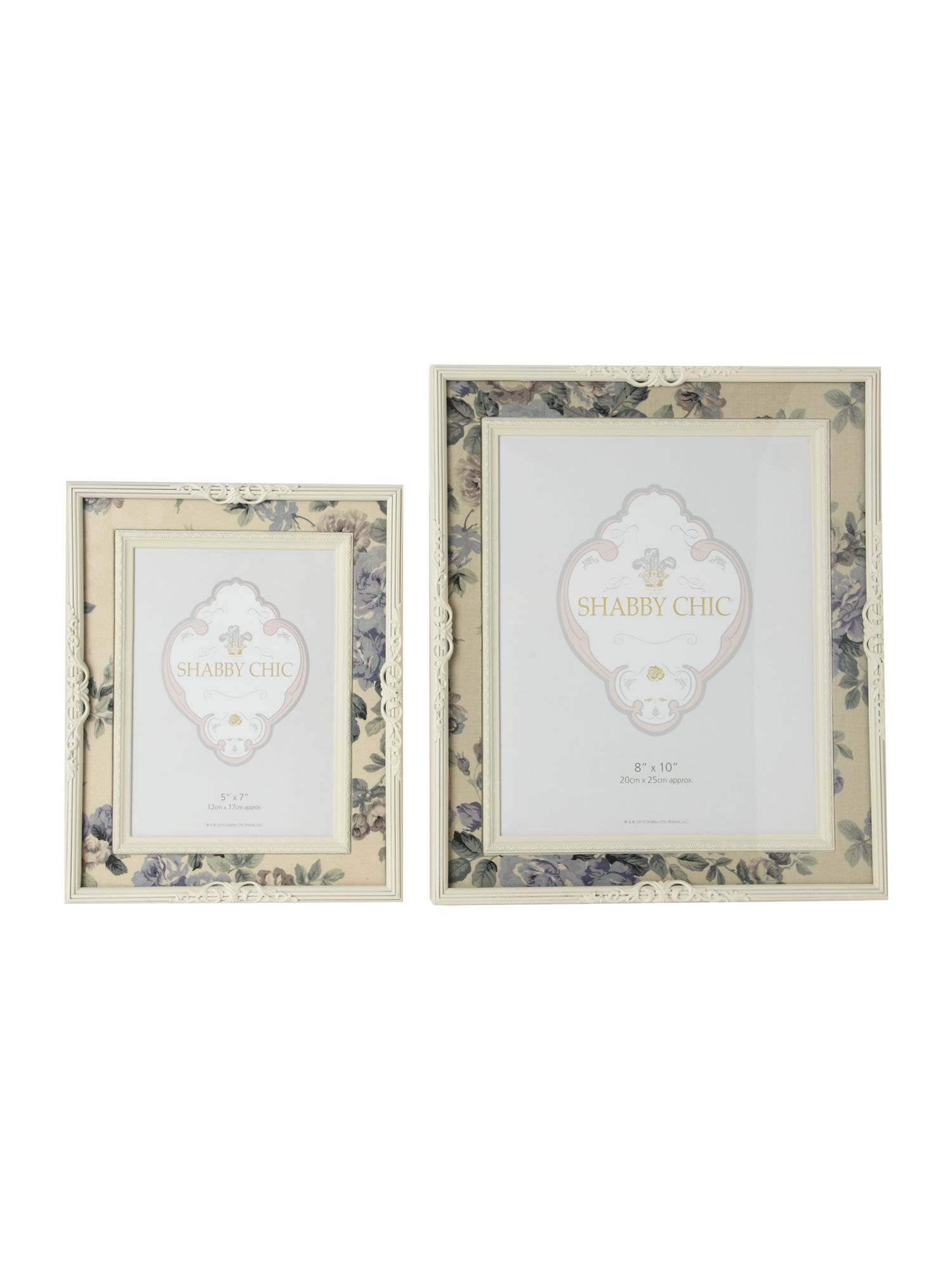 Ditsy floral fabric photo frames