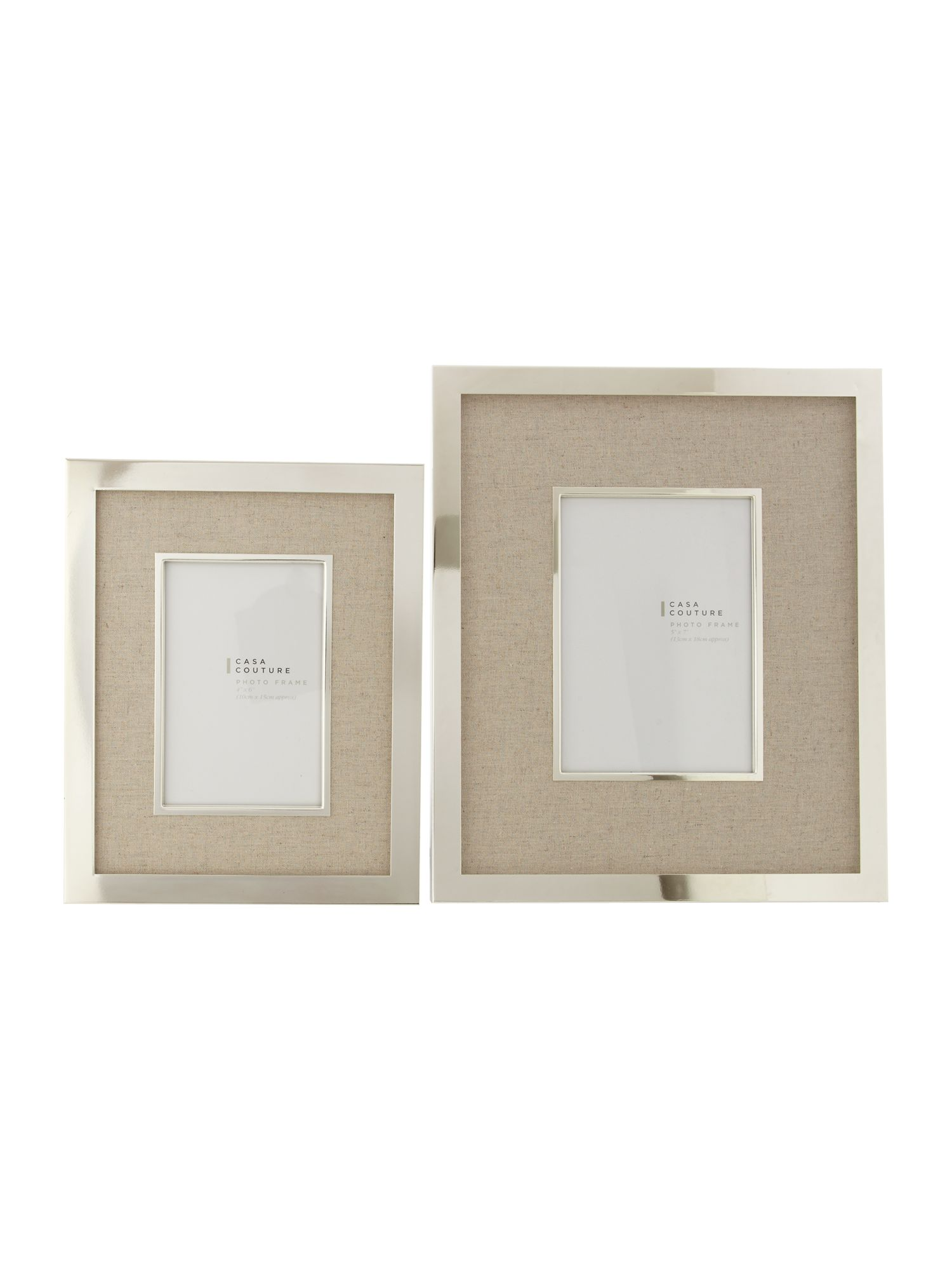 Cream fabric photo frames
