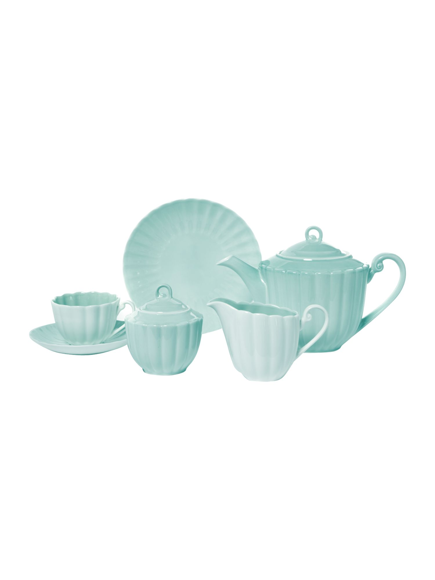 Frill sage tea set