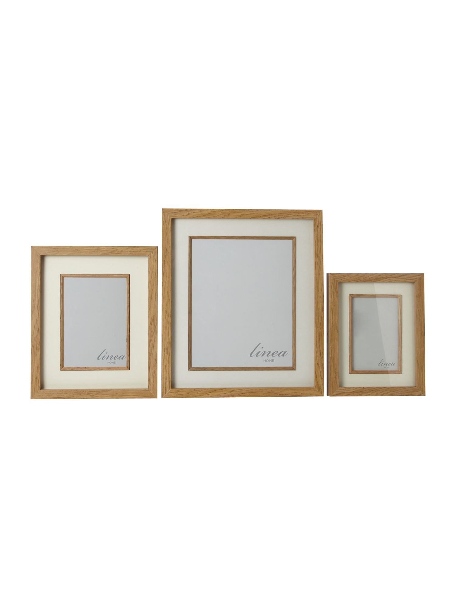 Pale wood photo frames