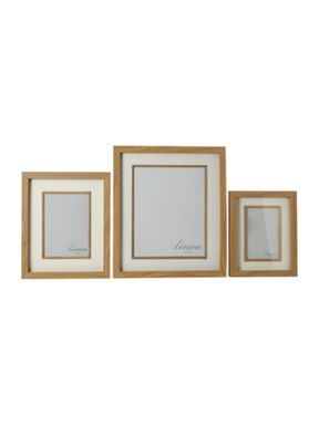 Linea Pale wood photo frames