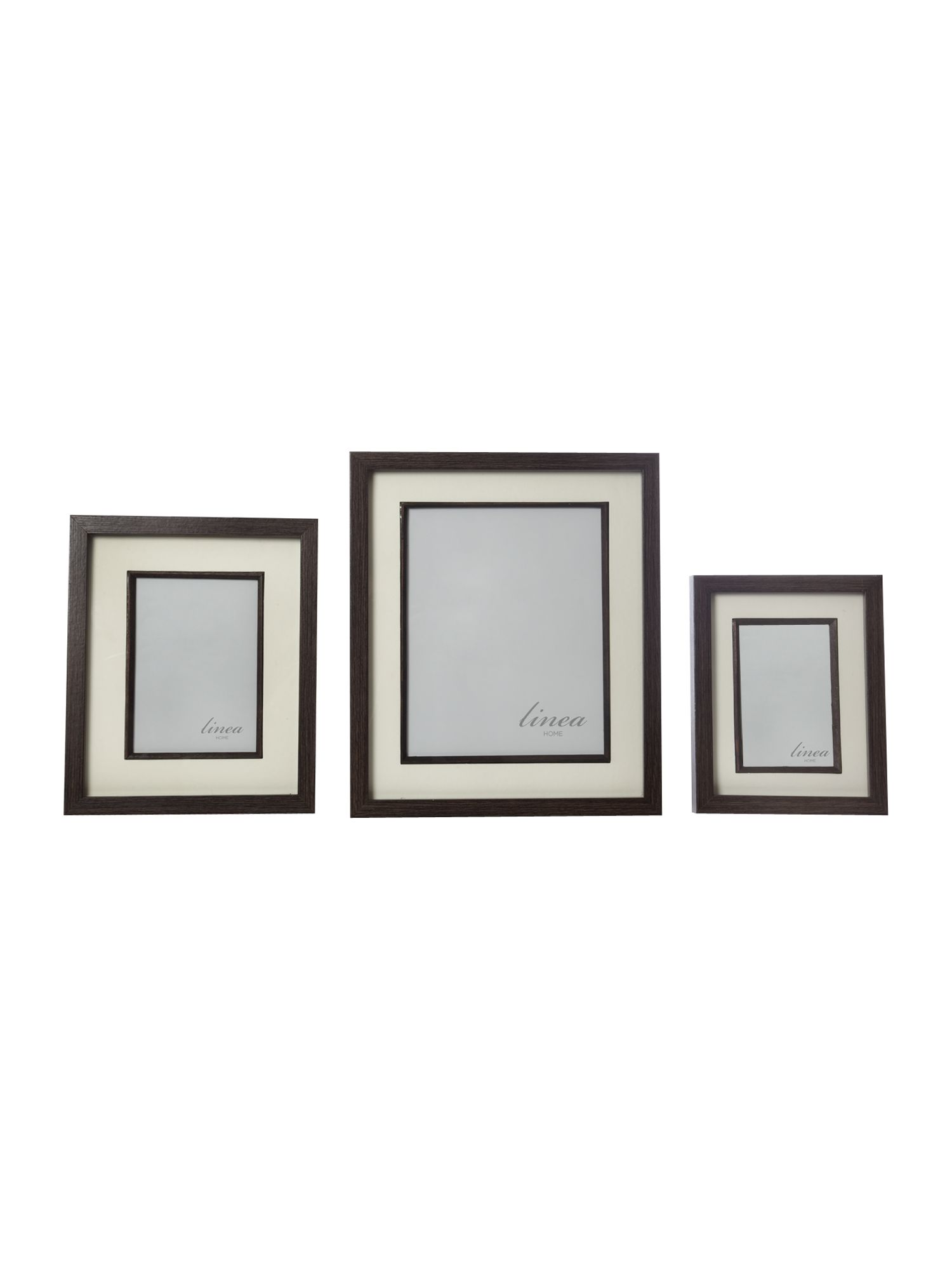 Dark wood photo frame range