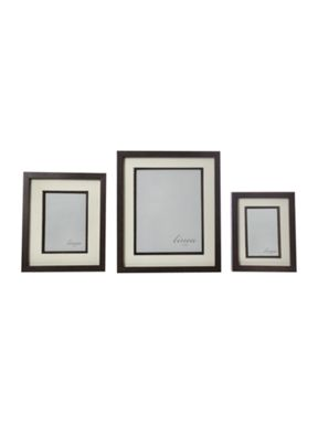 Linea Dark wood photo frame range