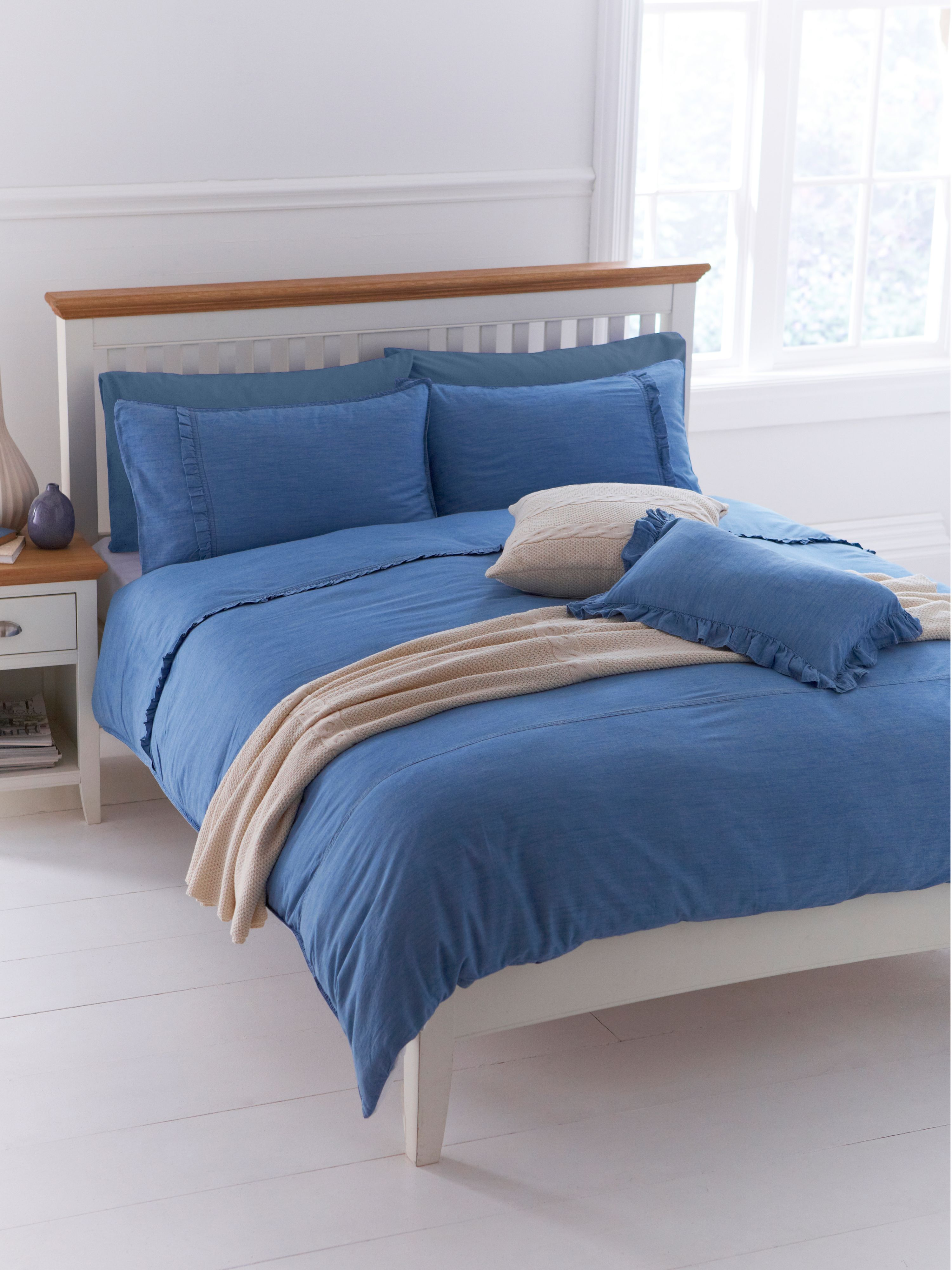 Pretty Denim double duvet cover set