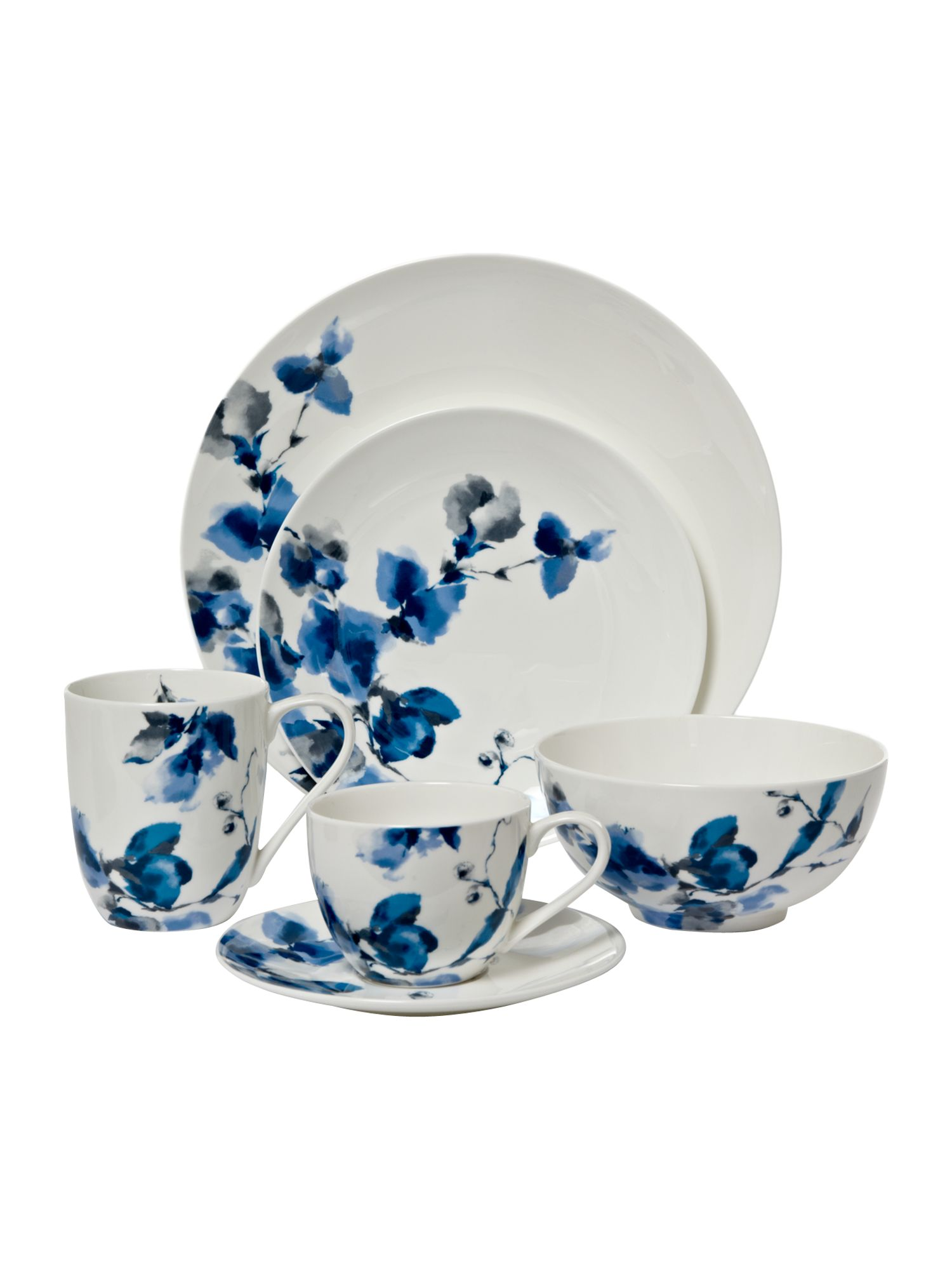 Watercolour floral dinnerware range