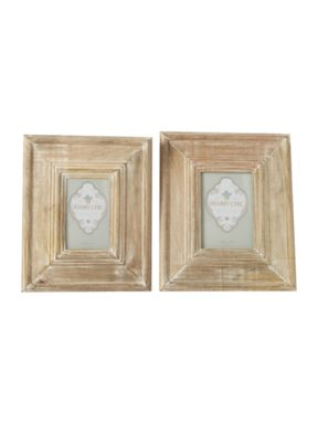 Shabby Chic Oversized whitewashed wooden photo frame