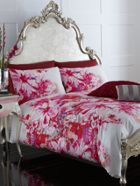 Lily floral bedlinen in fuchsia