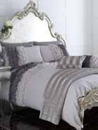 Pied a Terre Ombre ruffle bed linen in grey