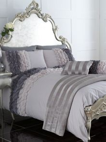 Ombre Ruffle superking duvet cover