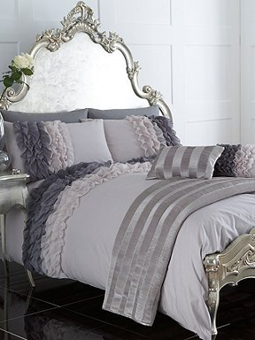 Pied A Terre Ombre Ruffle Bed Linen In Grey House Of Fraser