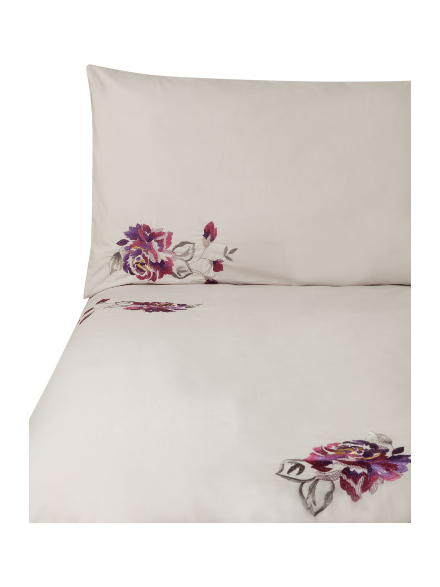 Kyoto floral bed linen in purple