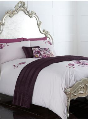 Pied a Terre Kyoto floral bed linen in purple