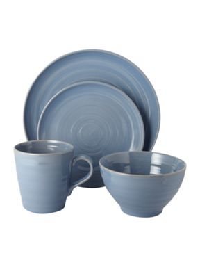 Linea Echo Blue dinnerware
