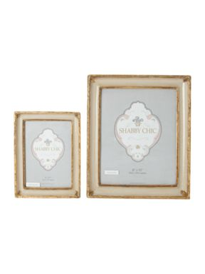 Shabby Chic Cream distressed photo frames