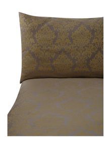 Chartreuse damask jacquard bed linen