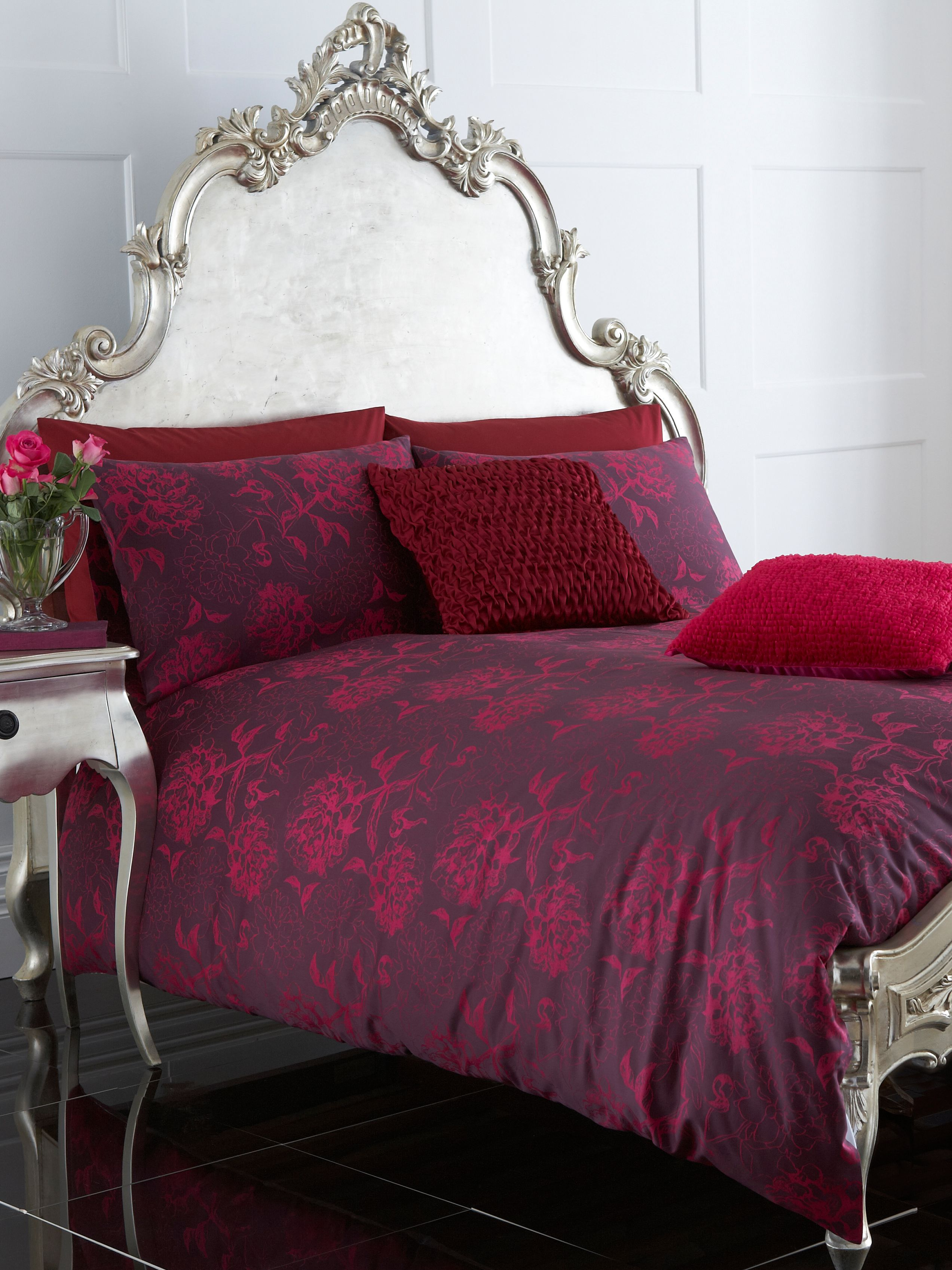 Peony Jacquard single duvet cover