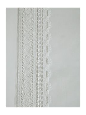 Linea Bourgeois lace duvet cover sets in white