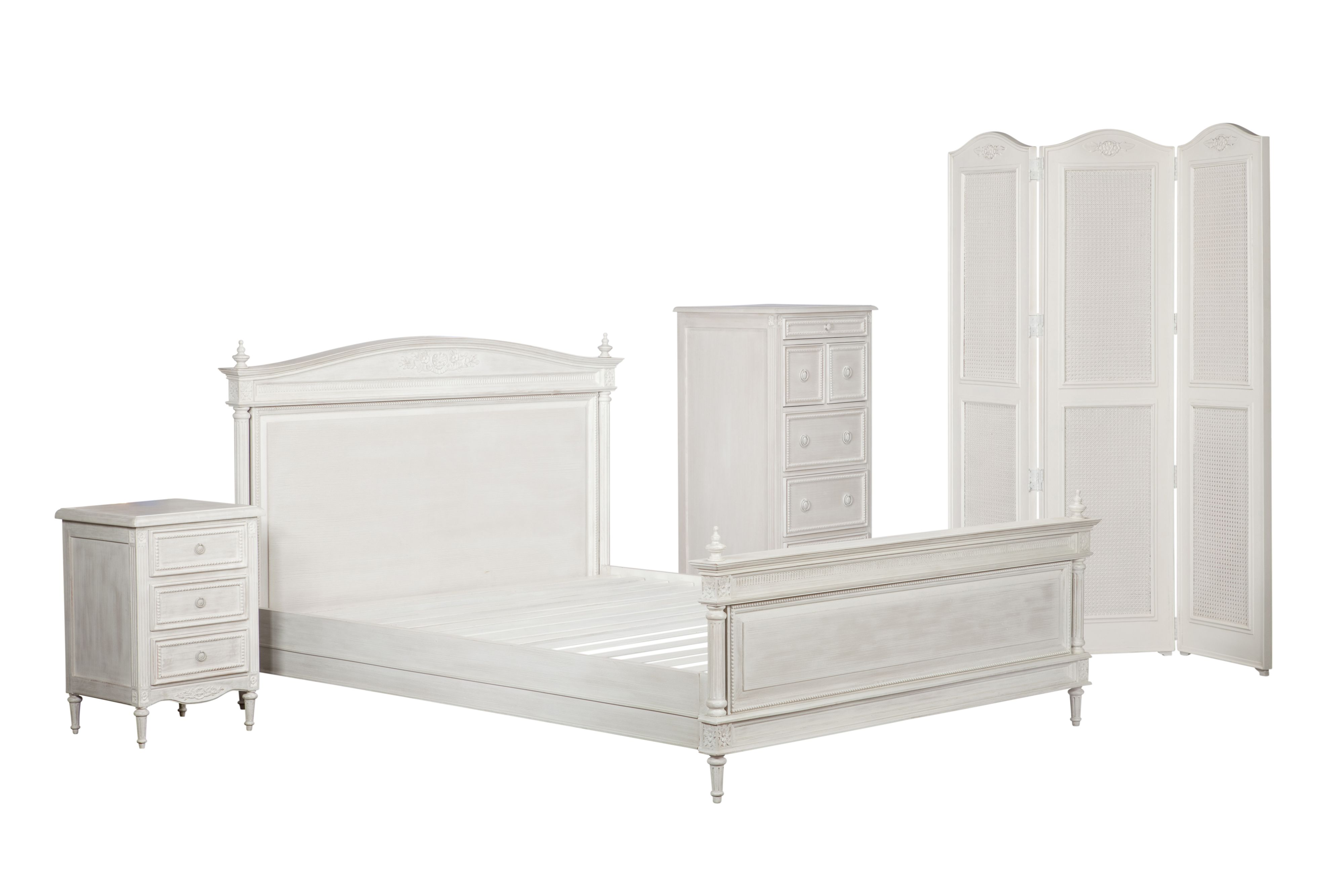 Heather double bedstead