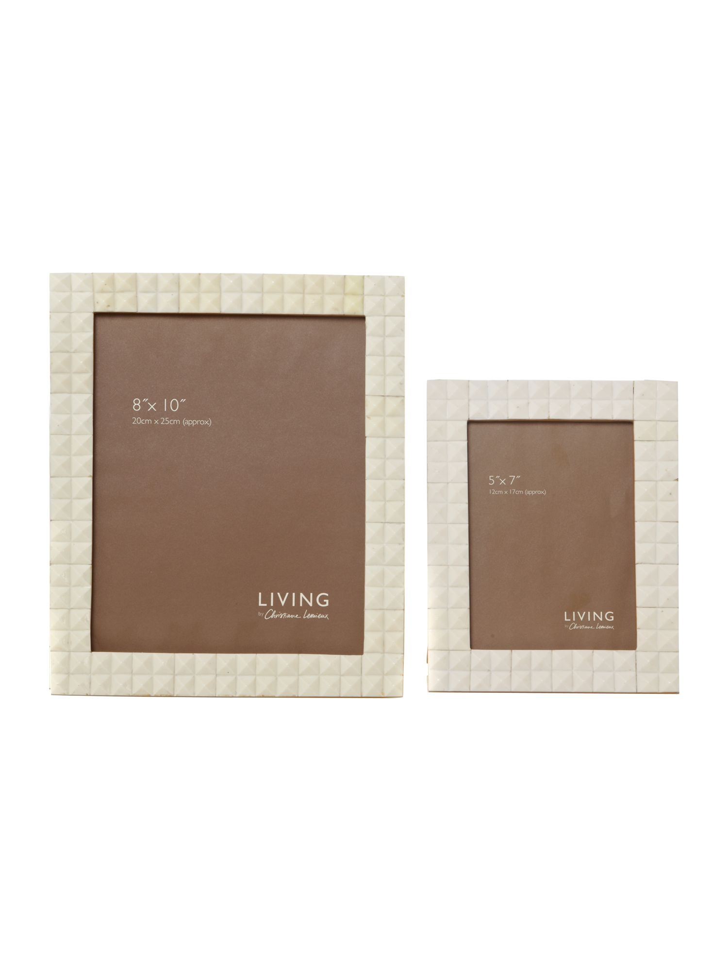 Cream textured photo frames