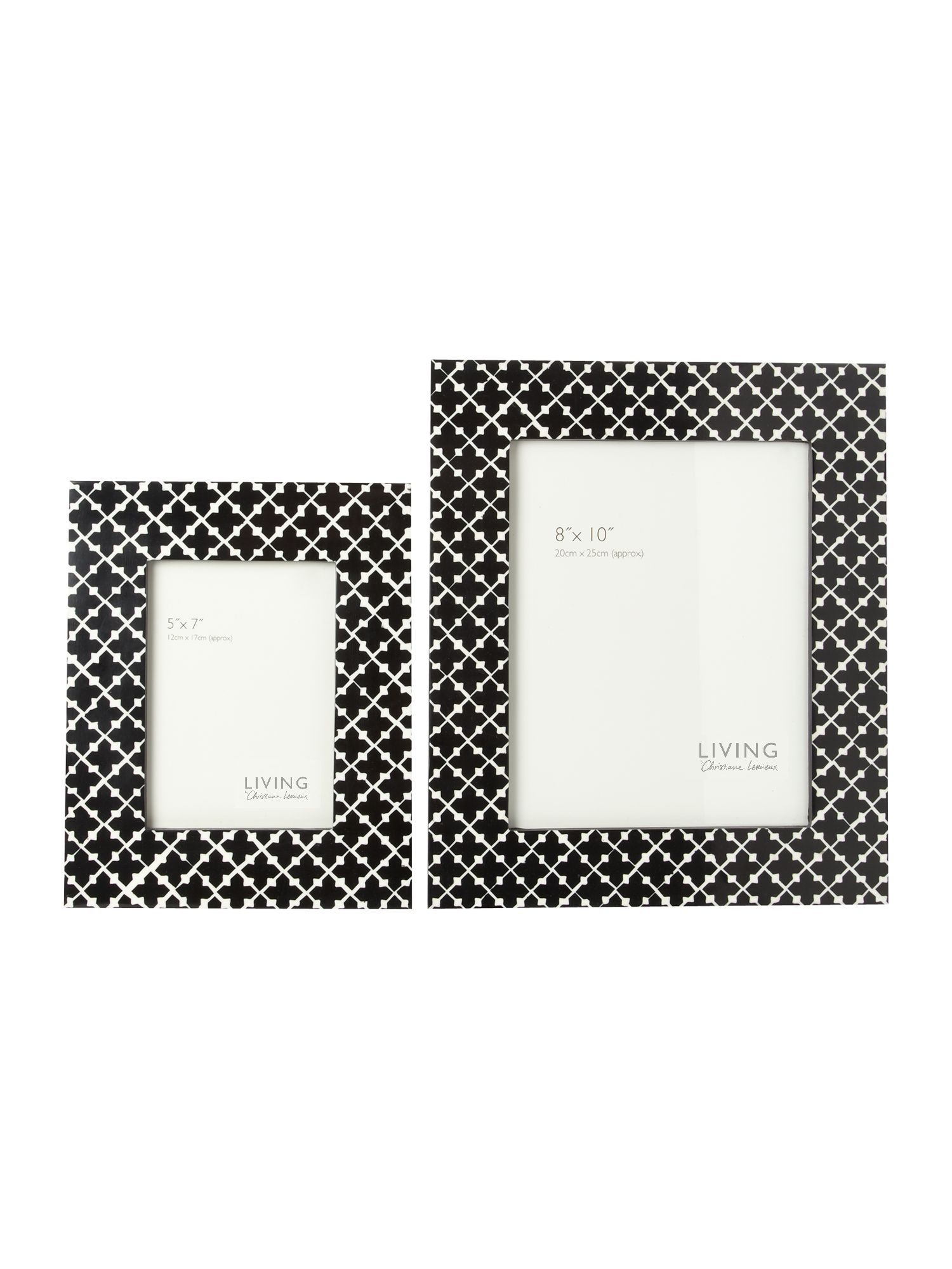 Black and white patterned frames