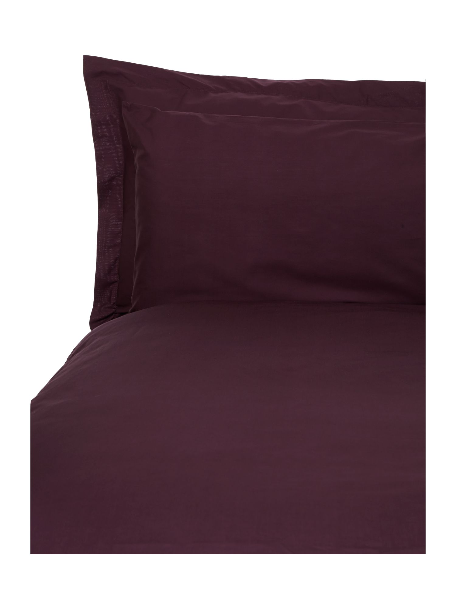 100% cotton plain dye bedlinen in purple