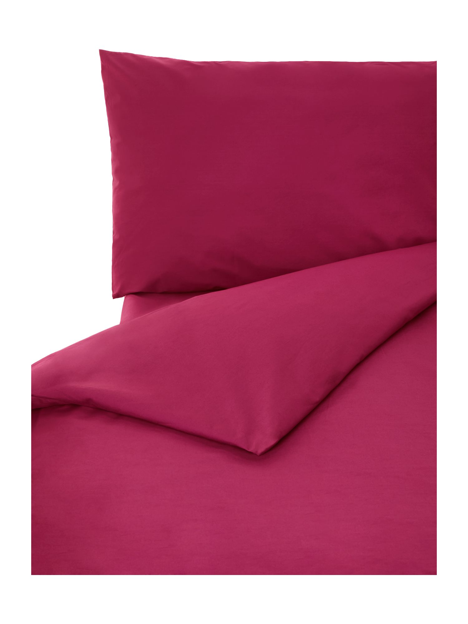 100% cotton double fitted sheet fuchsia