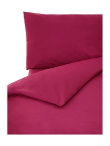 100% cotton plain dye bedlinen fuchsia