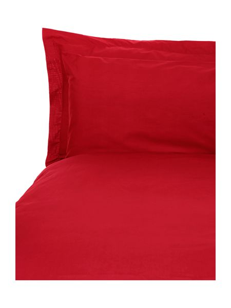 Linea 100% cotton double flat sheet red