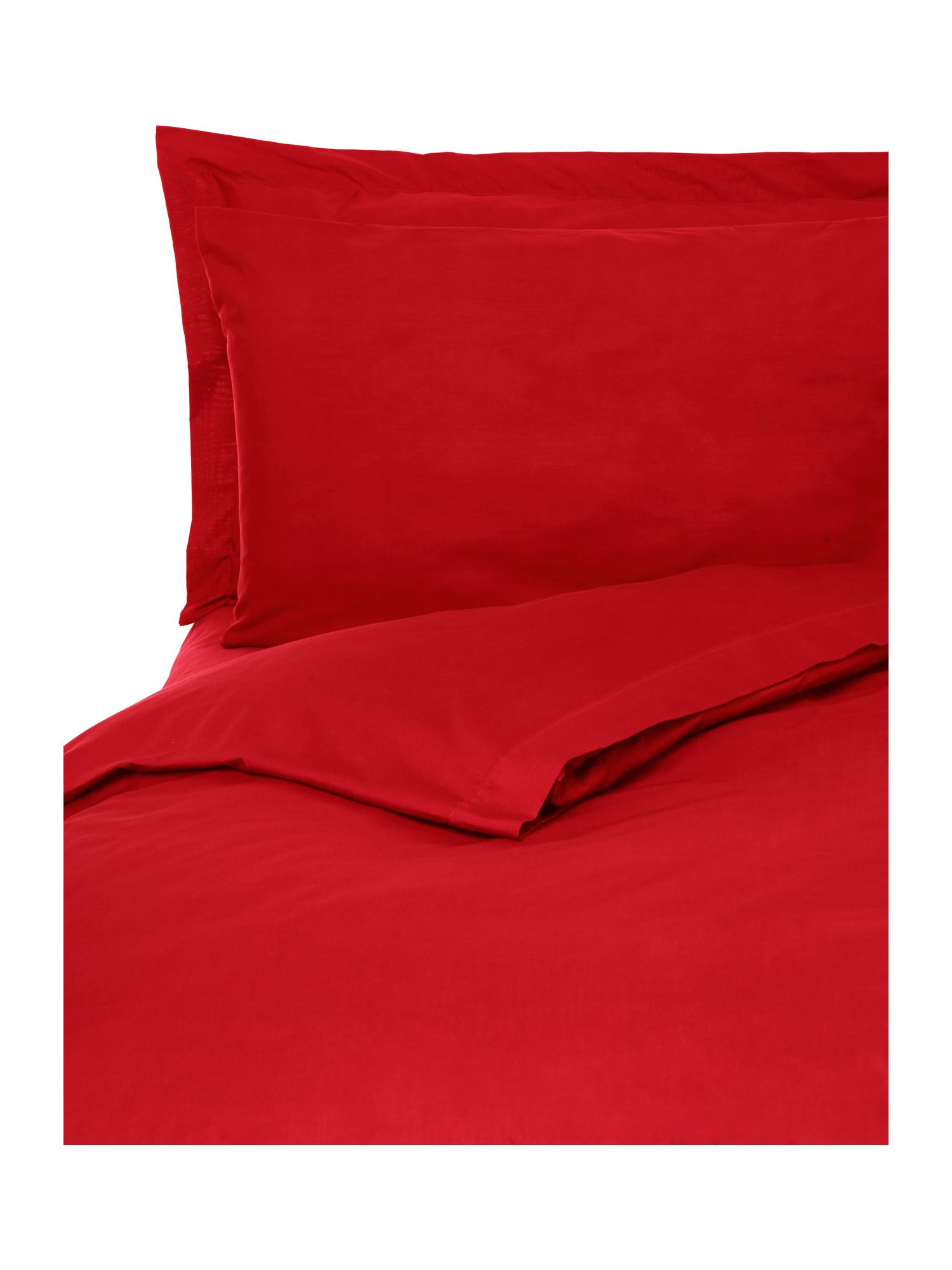 100% cotton plain dye bedlinen in red