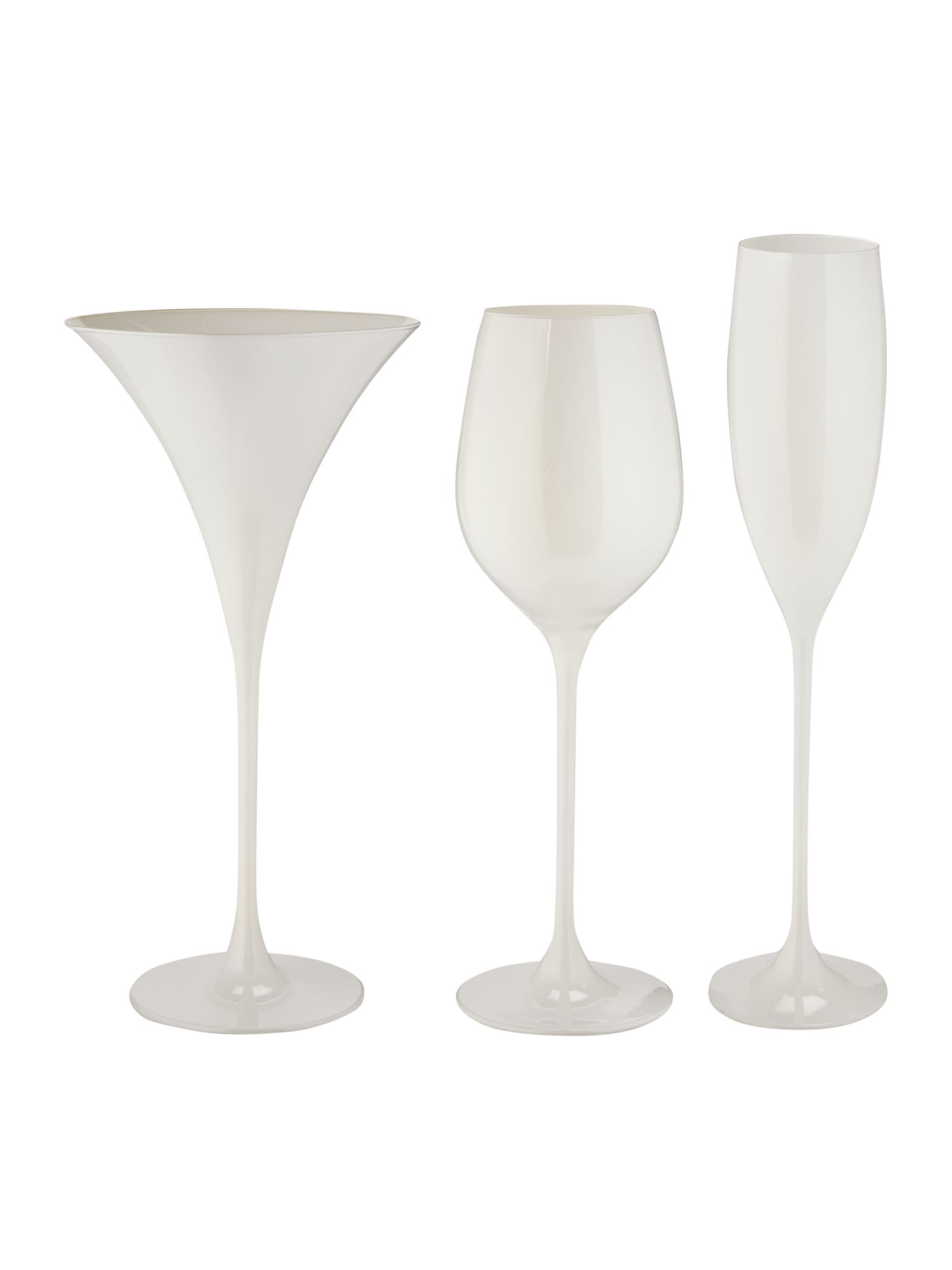 Ghost white glassware range