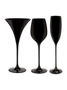 Ghost black glassware range