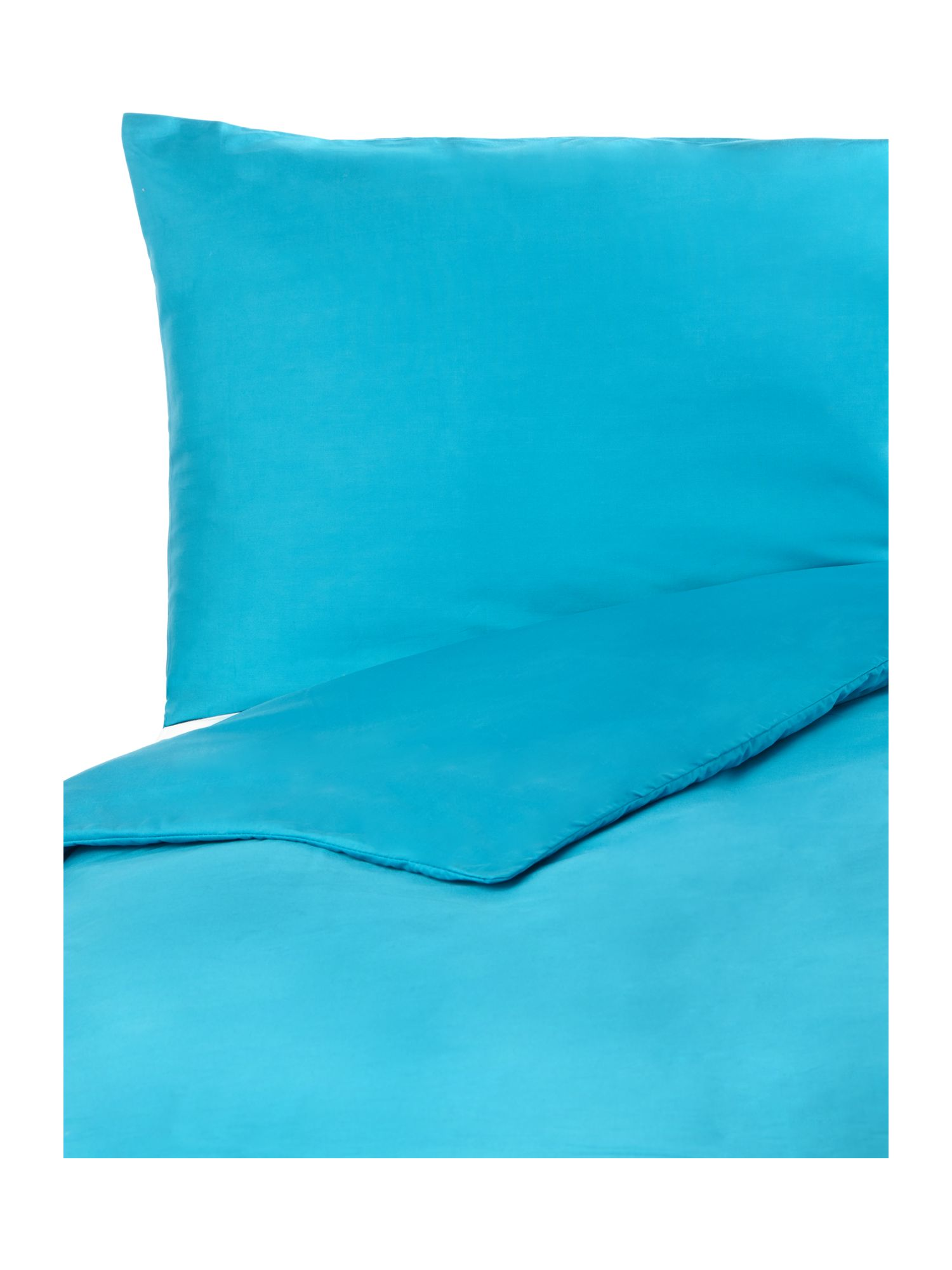 100% cotton plain dye bedlinen in teal