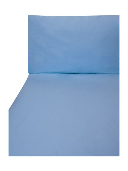 Linea 100% cotton double fitted sheet denim