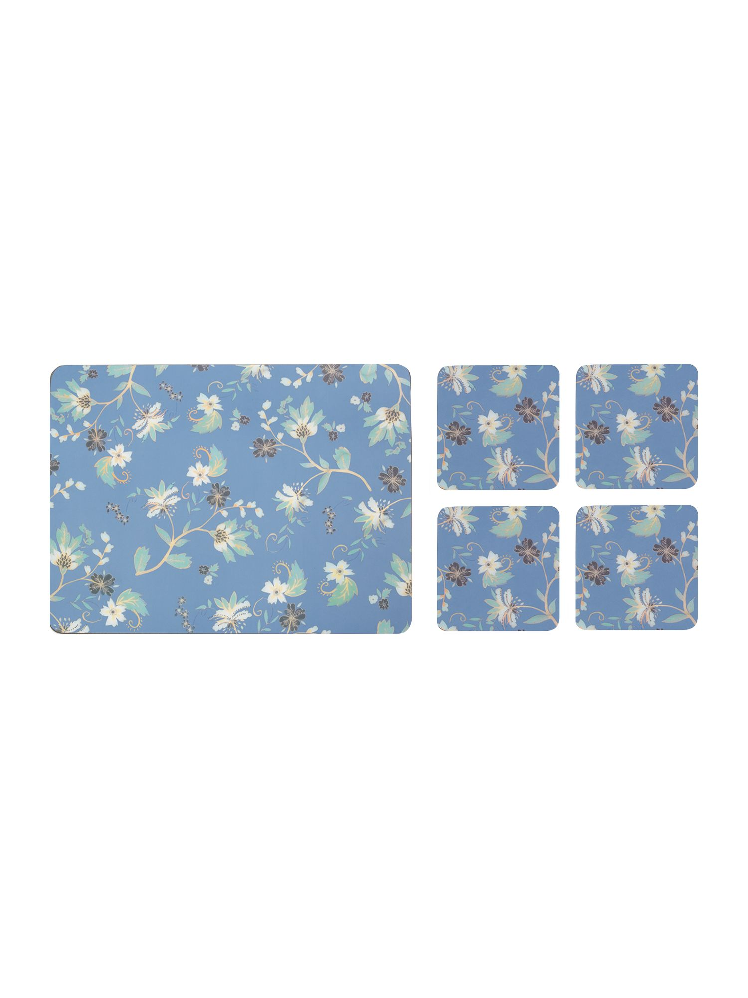 Monsoon Veronica Blue placemat & Coaster