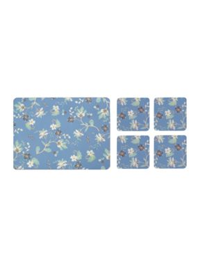 Denby Monsoon Veronica Blue placemat & Coaster