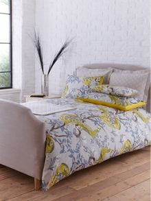 Plume citrine bed linen in yellow