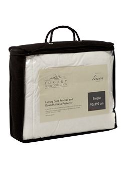Duck Feather & Down mattress protector single