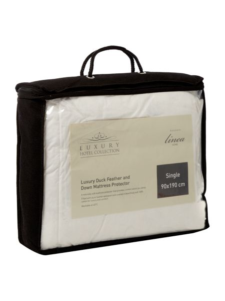 Luxury Hotel Collection Duck Feather & Down mattress protector s/kin