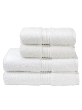 Christy Plush towels in white